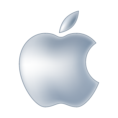 Apple computer brand vector logo