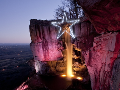 Rock citys enchanted garden of lights at rock city gardens chattanoogabridge com