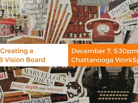 "Image: The Chattery Presents ""Creating a 2018 Vision Board"""