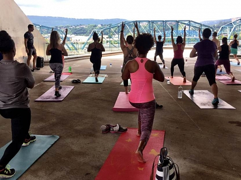Image: Artful Yoga: Powering Up with Vino and Vinyasa