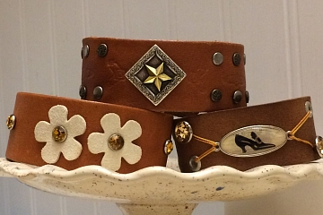 "Image: The Chattery Presents ""Jewelry Making: Leather Cuff"""