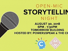 """The Chattery Presents """"Open Mic Storytelling Night: Firsts"""""""