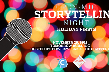 """Image: The Chattery Presents """"Open Mic Storytelling Night: Holiday Firsts"""""""