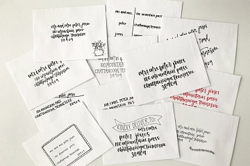 """Image: The Chattery Presents """"Handlettering for Holiday Card Addressing"""""""