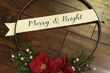 """Image: The Chattery Presents """"Embroidery Hoop Christmas Wreath"""""""
