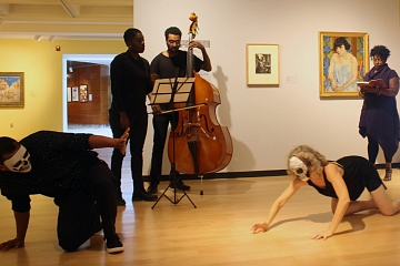 Image: Artists Talking to Art: The Divine Poetess with Musicians and Dancers