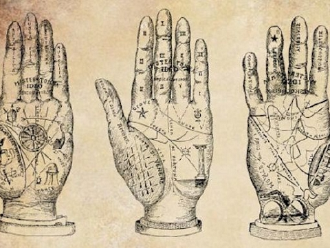 """Image: The Chattery Presents """"Beginner Palmistry"""""""