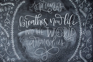 "Image: The Chattery Presents ""Chalkboard Lettering 101"""