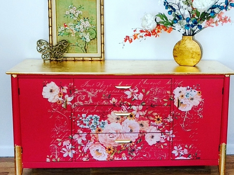 Image: The Chattery Presents: Using Decor Transfers on Furniture