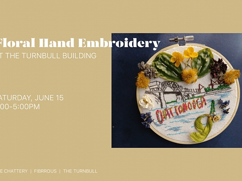 Image: The Chattery Presents: Floral Hand Embroidery