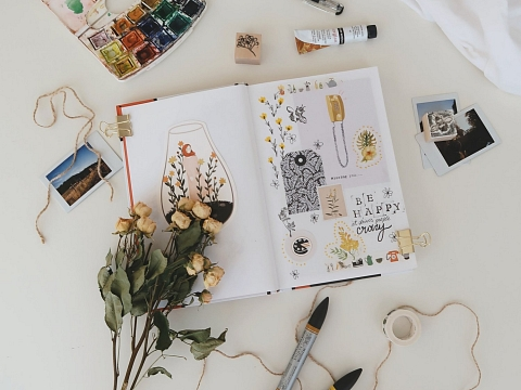 Image: The Chattery Presents: Mixed Media Art Journaling