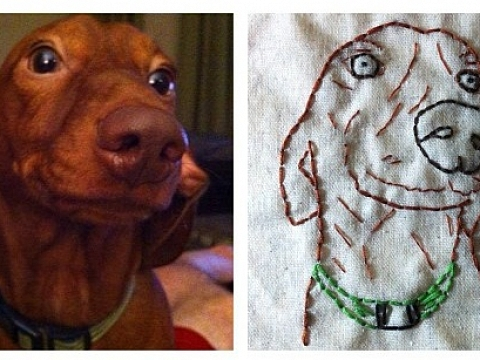 Image: Beginner Embroidery: Pet Portraits