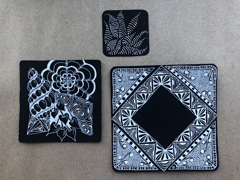 Image: Zentangle Reversed: Introduction to Black Tiles