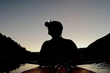 Image: Paddling by Moonlight