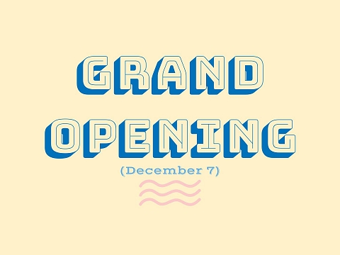 Image: Grand Opening + Champagne Pop Up