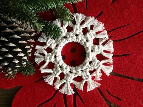 Image: Macrame Ornament Making