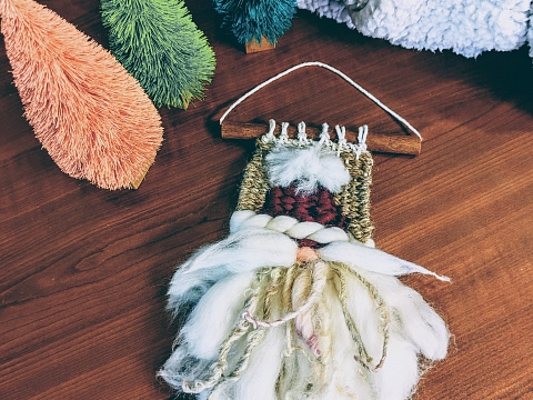 Image: Introduction to Weaving: Woven Gnome Ornament