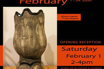 Image: February Exhibit at River Gallery with Winton and Rosa Eugene