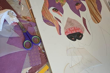 Image: The Blue Dog Project: Mixed Media Pets