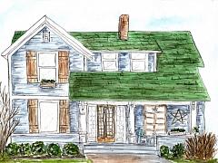 Watercolor Illustration: House Portraits