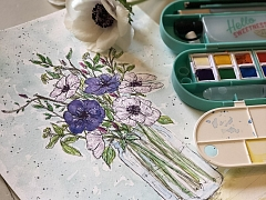 Watercolor Sketching: Flowers – ONLINE CLASS