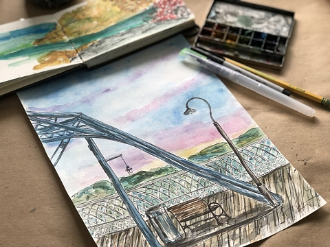Image: Chattanooga Watercolor Sketching – ONLINE CLASS