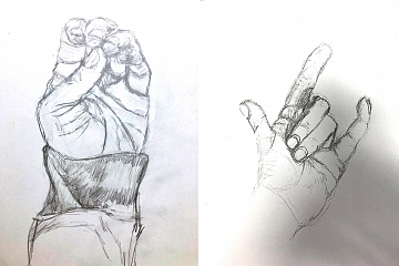"Image: Can You ""Hand(le)"" It?: The Art of Drawing Hands – ONLINE CLASS"