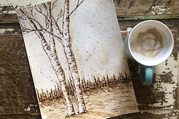 Image: Watercolor Sketching with Coffee – ONLINE CLASS