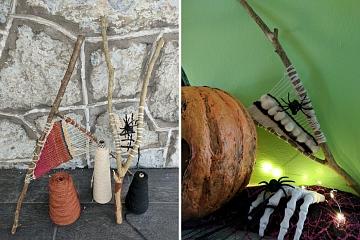 Image: Halloween Spider Weaving – ONLINE CLASS