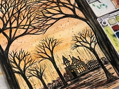 Spooky Watercolor Sketching – ONLINE CLASS
