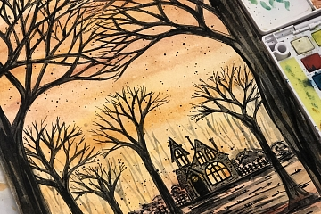Image: Spooky Watercolor Sketching – ONLINE CLASS