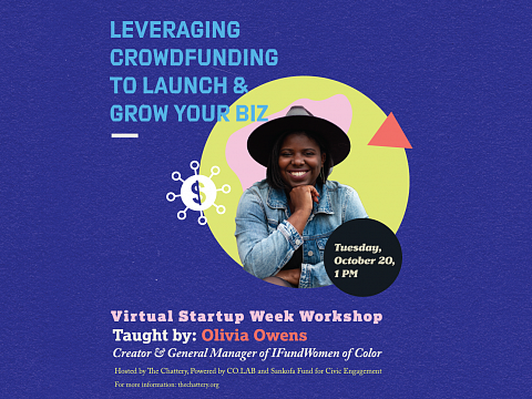 Image: Leveraging Crowdfunding to Launch & Grow Your Biz – ONLINE WORKSHOP