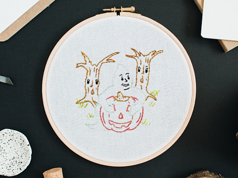 Image: Haunting Halloween Embroidery – ONLINE CLASS + SUPPLIES