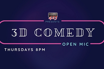Image: 3D Comedy Open Mic