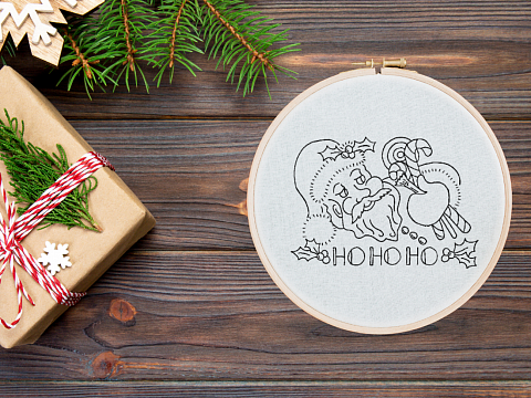 Image: Beginner Embroidery: Holiday Hand Towels – ONLINE CLASS + SUPPLIES