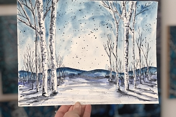Image: Winter Watercolor Sketching – ONLINE CLASS