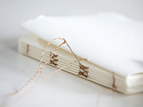 Image: Sentimental Upcycling: Bookmaking – Online Class + Supplies