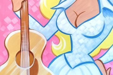 Image: Painting Happy Hour: We Love Dolly – Online Class + Supplies
