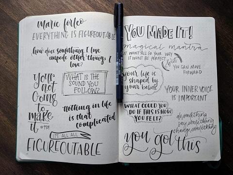 Image: Handlettered Notetaking – Online Class