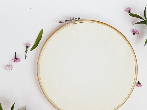 Image: Beginner Embroidery: Cocktail Tea Towels – Online Class + Supplies