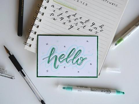 Image: Beginner Handlettering – Online Class + Supplies