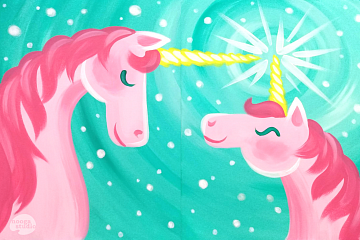Image: Mommy & Me Unicorn Painting – Online Class