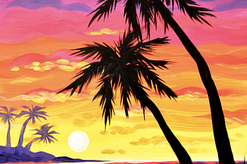 Image: Tropical Bliss Painting – IN-PERSON CLASS