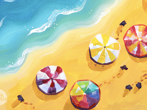 Image: Seaside Escape Painting – IN-PERSON CLASS
