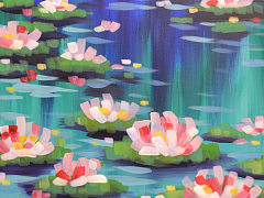 Painting Happy Hour: Monet's Water Lilies – IN-PERSON CLASS