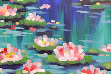 Image: Painting Happy Hour: Monet's Water Lilies – IN-PERSON CLASS