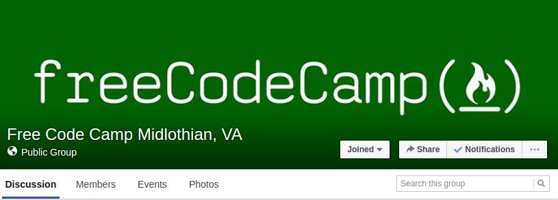 Free Code Camp Local Group Screenshot