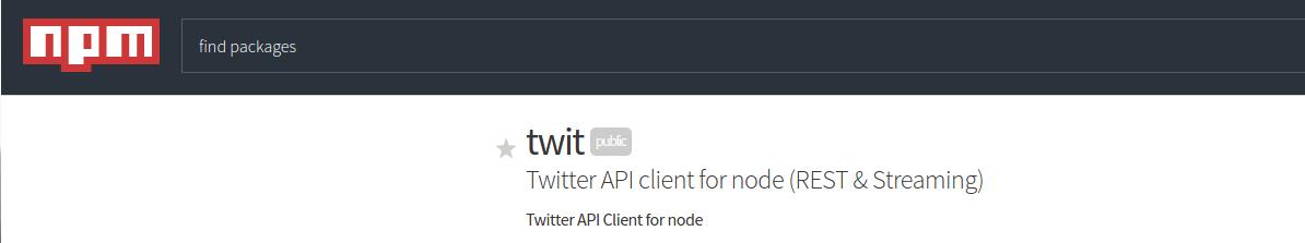 NPM Twit Module