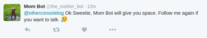 Mom Bot Unfollow Tweet