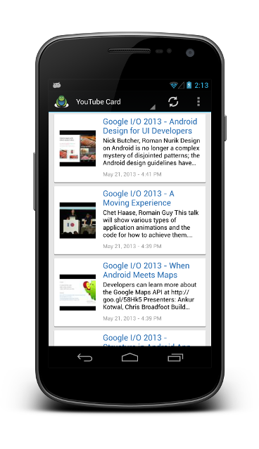 YouTube Activity | Andromo Support